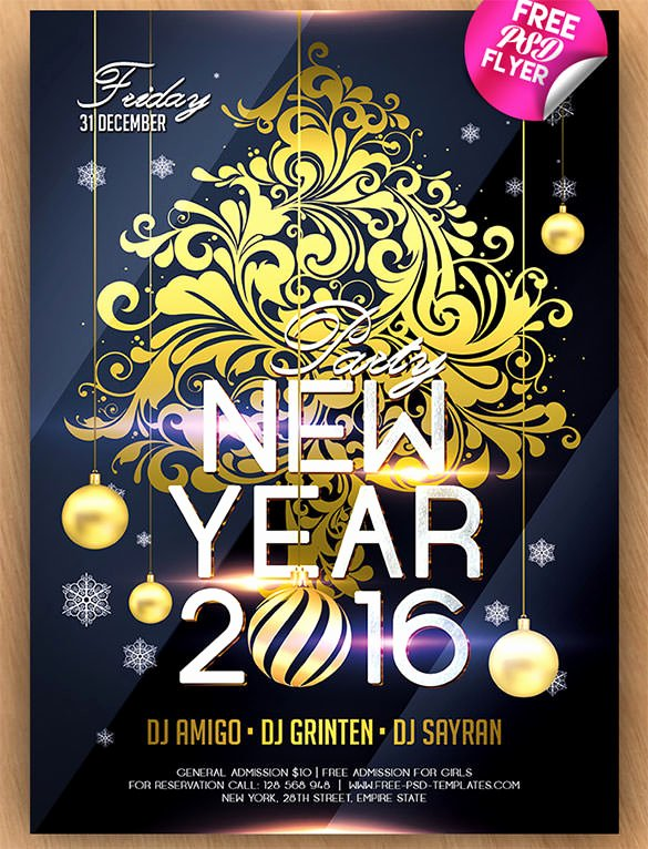 New Year Invitation Template New 28 New Year Invitation Templates – Free Word Pdf Psd