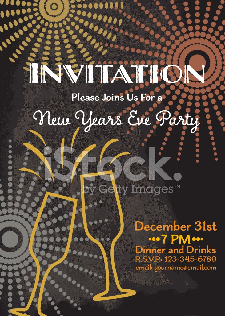 New Year Invitation Template New New Year S Eve Party Invitation Template Stock Photos