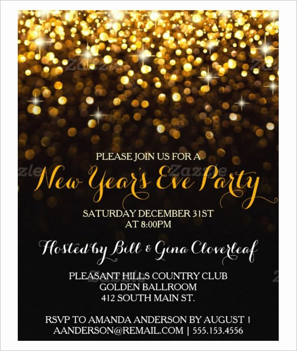 New Year Invitation Template Unique 28 New Year Invitation Templates – Free Word Pdf Psd