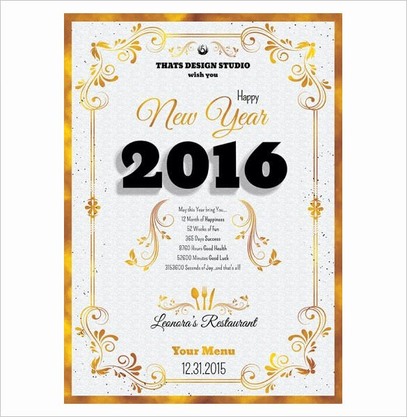 New Years Eve Template Awesome 9 New Year Menu Templates Psd Eps Illustrator Pdf