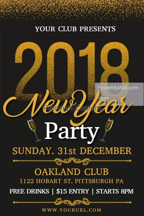 New Years Eve Template Beautiful New Year Party Flyer Template