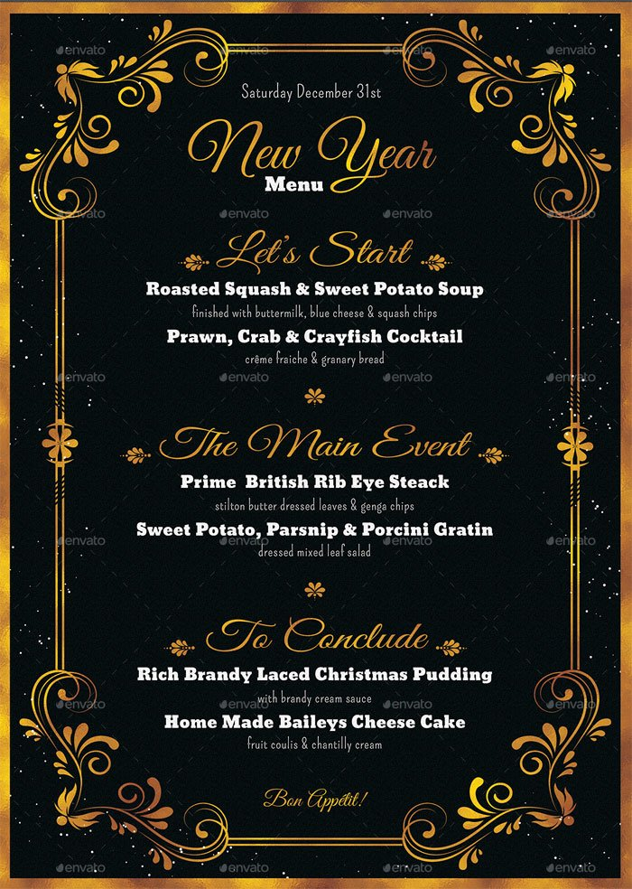 New Years Eve Template Best Of 8 Best New Year Menu Templates to Try This Season