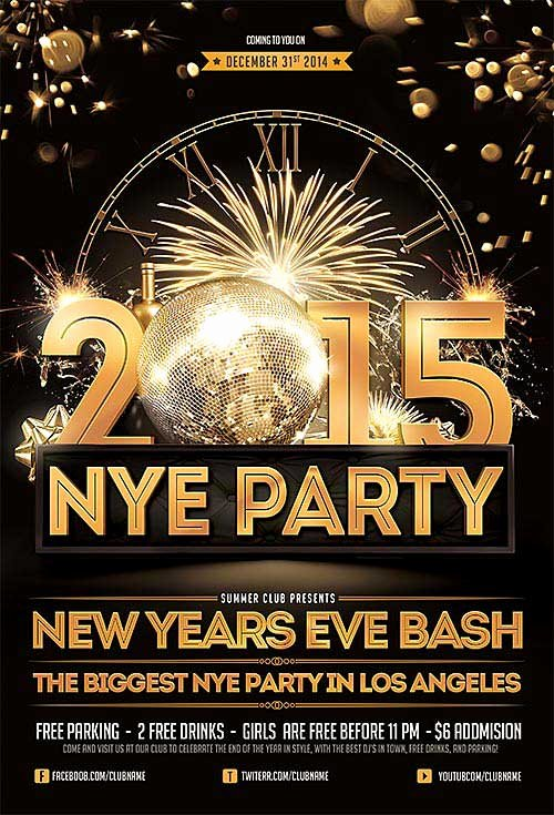 New Years Eve Template Elegant Download New Years Eve Free Psd Flyer Template