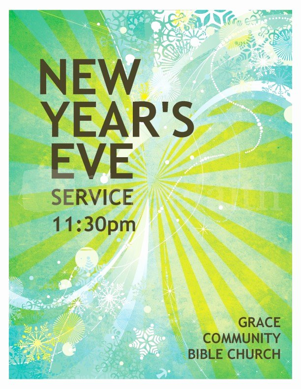 New Years Eve Template Elegant New Year S event Flyer