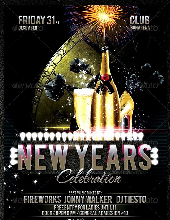 New Years Eve Template Fresh 20 Stunning Happy New Year Flyer Print Templates 2014