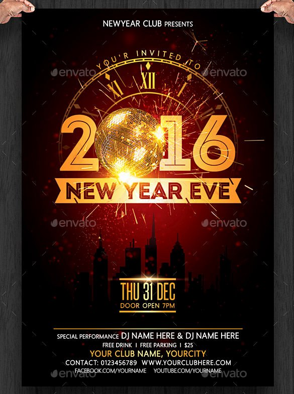 New Years Eve Template Fresh 28 New Year Invitation Templates – Free Word Pdf Psd