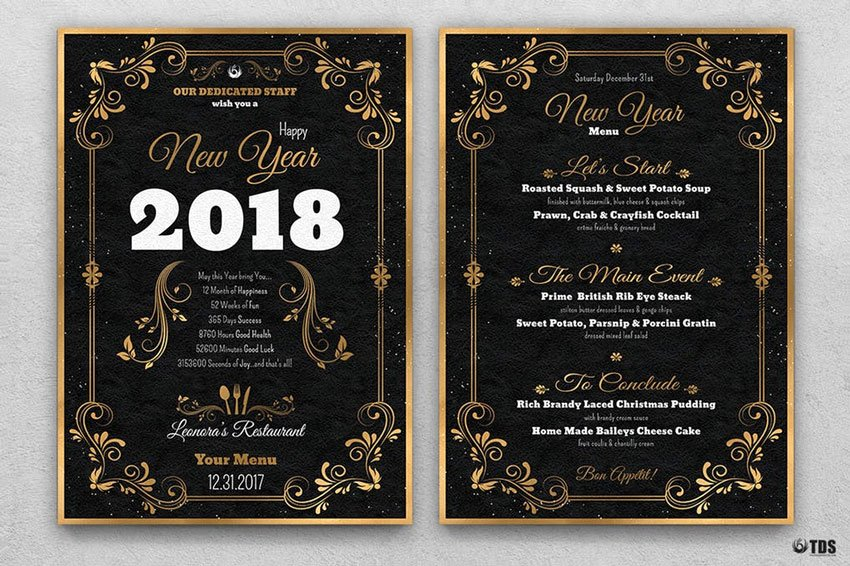 New Years Eve Template Fresh 50 Amazing Christmas and New Year S Eve Flyers for the