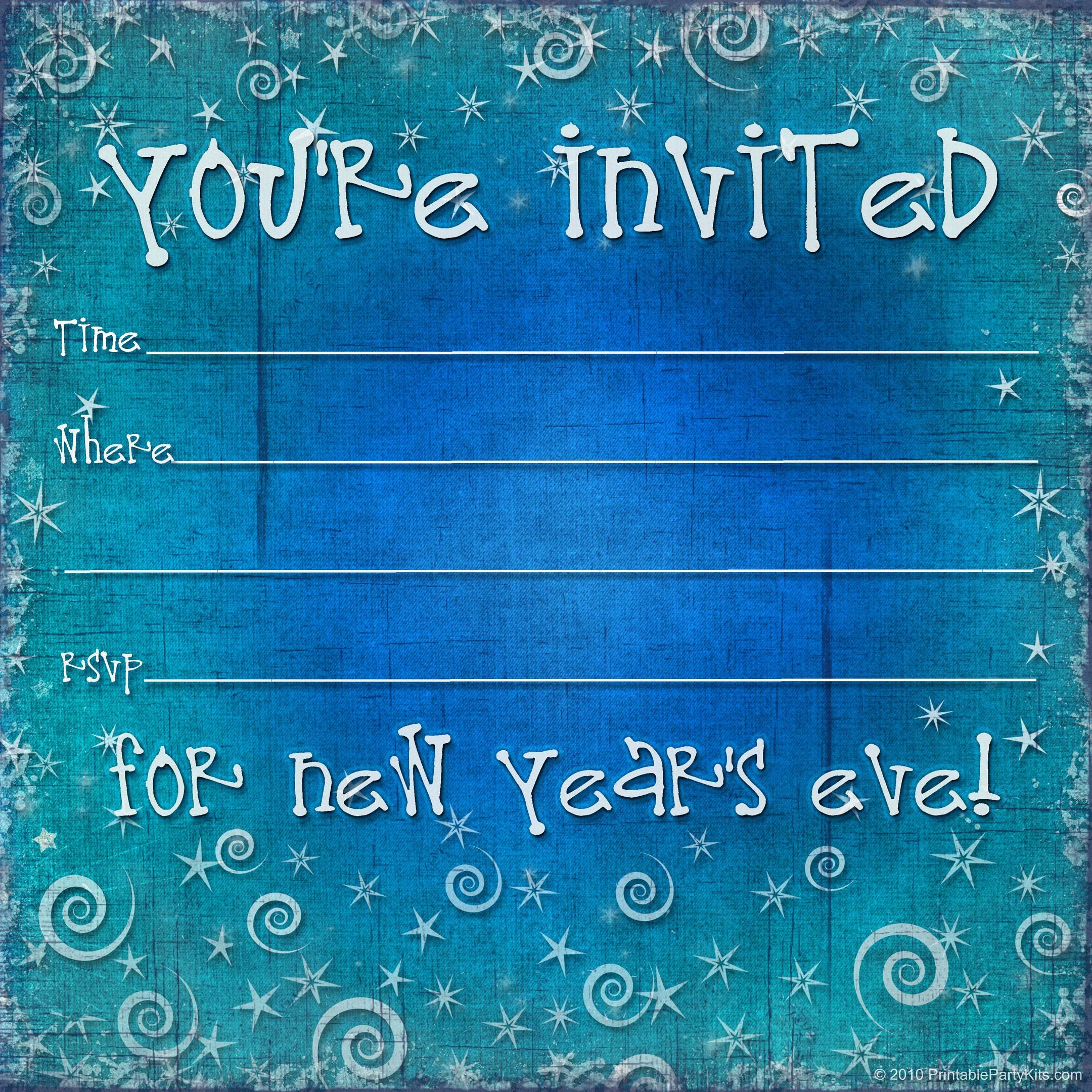 New Years Eve Template Fresh New Years Eve Party Invitations