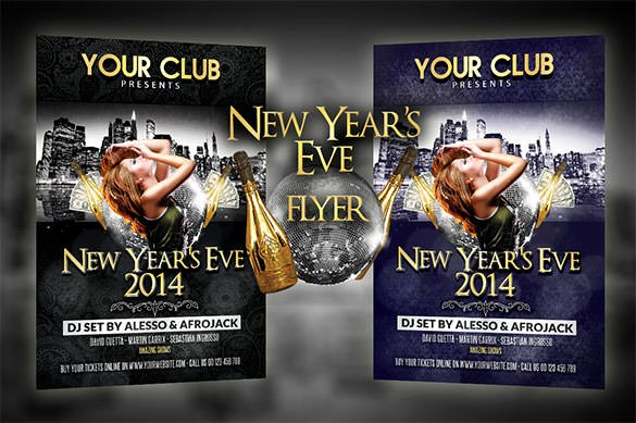 New Years Eve Template Inspirational 22 New Year Flyer Templates Psd Eps Indesign Word