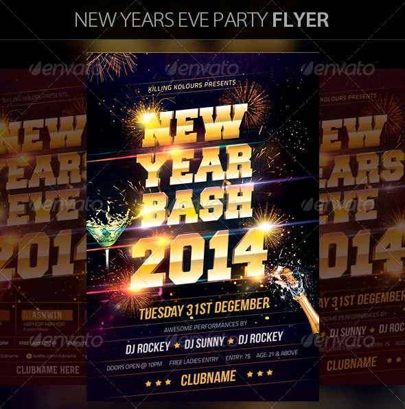 New Years Eve Template Lovely 30 Christmas Holiday Psd & Ai Flyer Templates