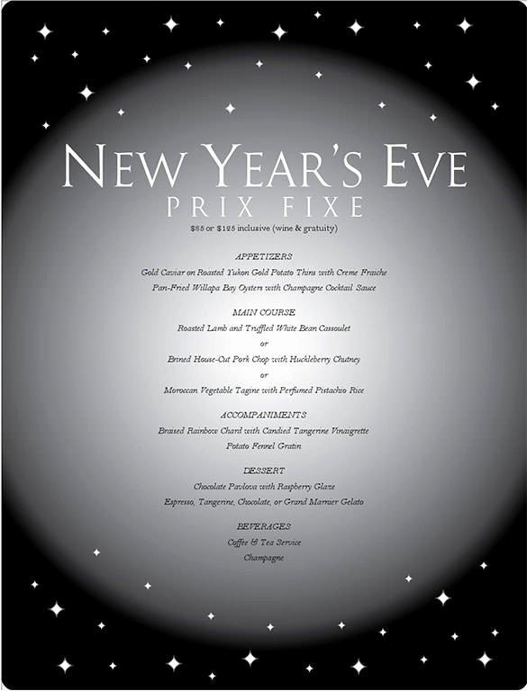 New Years Eve Template Luxury 9 New Year Menu Templates Psd Eps Illustrator Pdf
