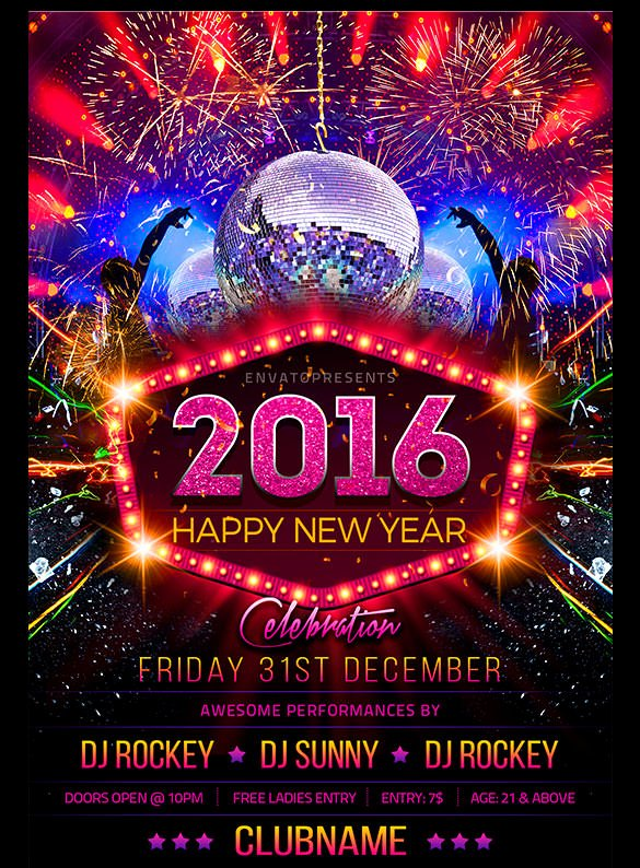 New Years Eve Template New 22 New Year Flyer Templates Psd Eps Indesign Word