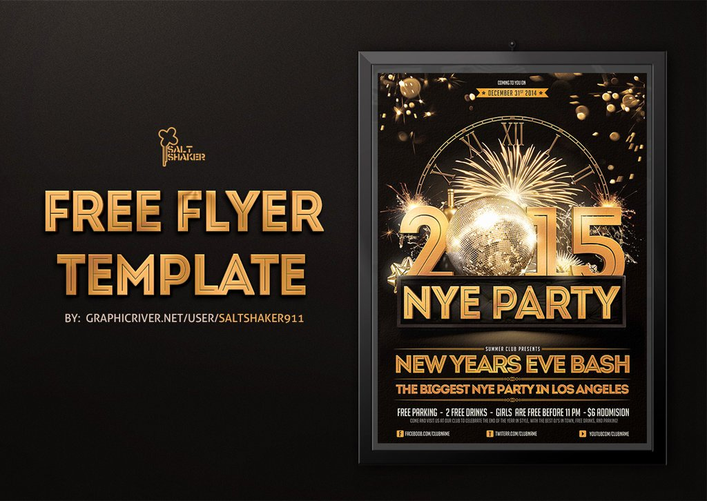 New Years Eve Template New Free New Years Eve Flyer Template by Saltshaker911 On