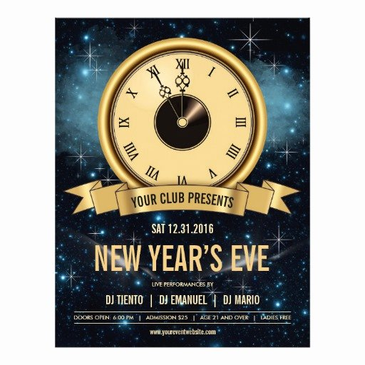 New Years Eve Template New New Years Eve Countdown Flyer Template Nye Party
