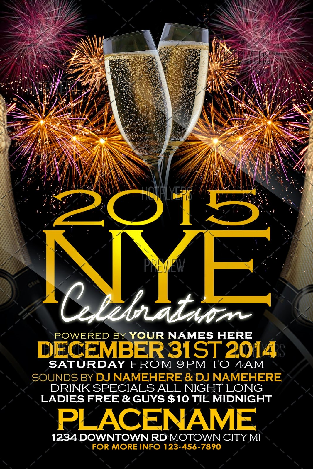 New Years Eve Template New New Years Eve Flyer Template Hotflyers Net Blog