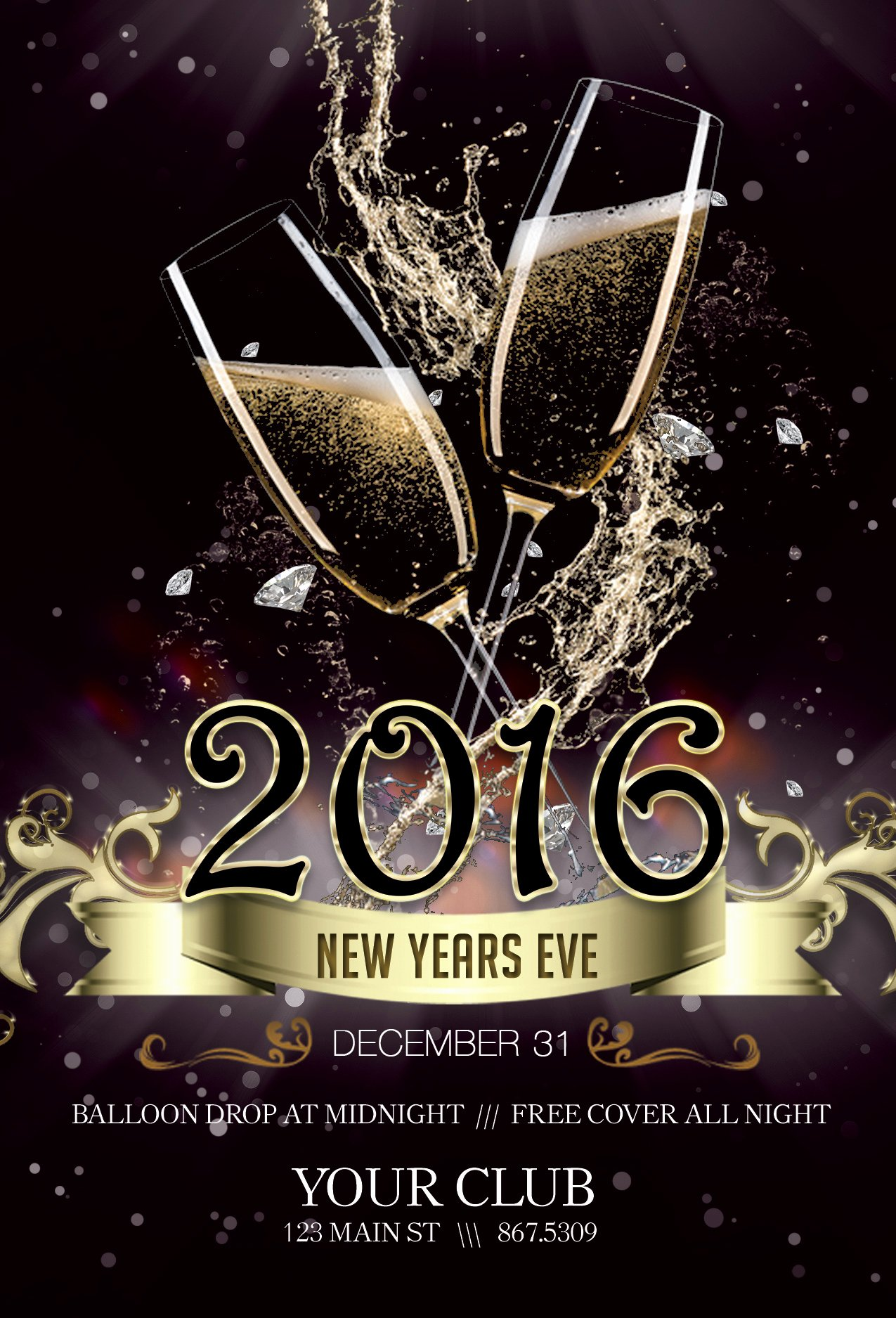 New Years Eve Template Unique Free New Years Eve Flyer Template Portablegasgrillweber