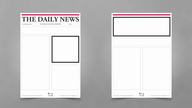 Newspaper Template for Kids Beautiful Blank Newspaper Templates Paperzip