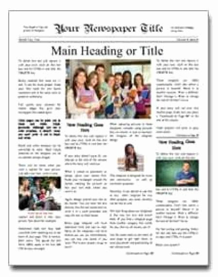 Newspaper Template for Kids Inspirational 9 Newspaper Templates Word Excel Pdf formats