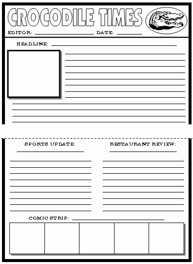 Newspaper Template for Kids Lovely Newspaper Article Template for Kids Printable