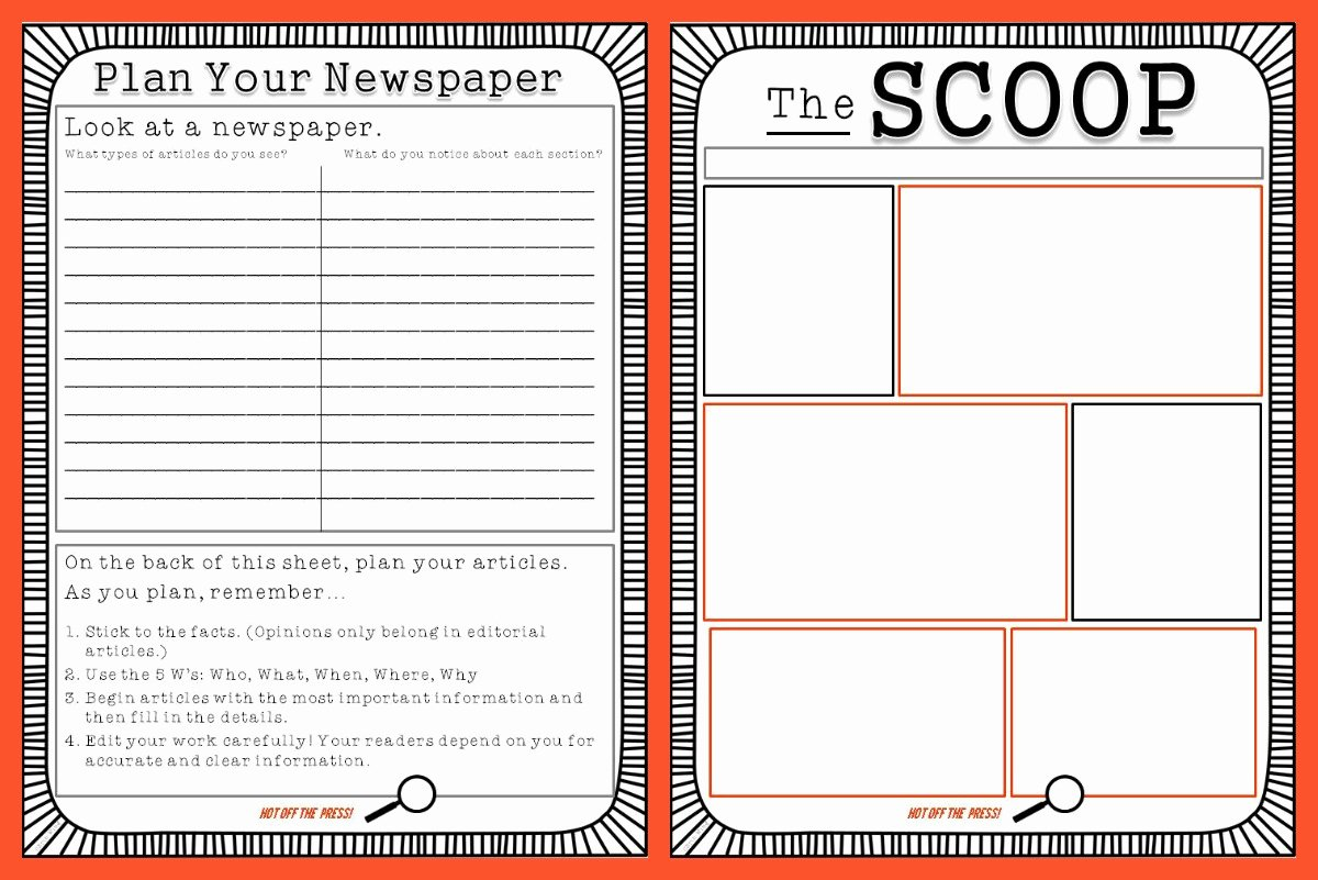 Newspaper Template for Kids Lovely Newspaper Template for Kids Beepmunk