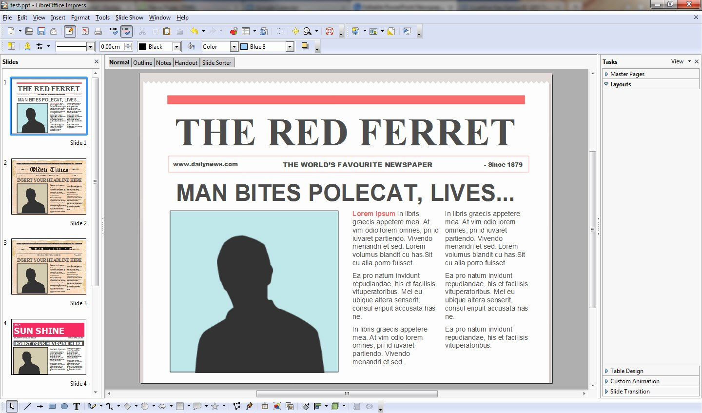 """Newspaper Template for Ppt Awesome Fice Newswire """" Ficial"""" Microsoft Fice Product"""