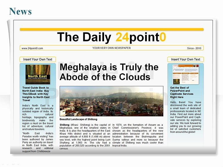Newspaper Template for Ppt Beautiful Editable Powerpoint Newspapers Template