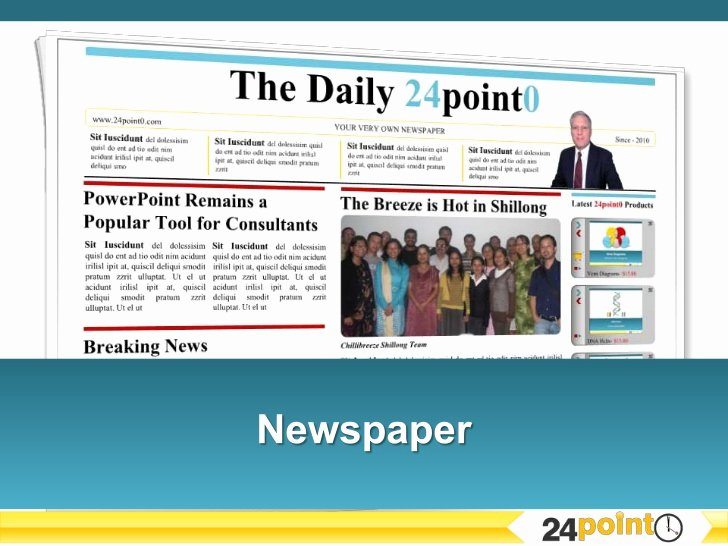 Newspaper Template for Ppt Elegant Editable Newspaper Template Powerpoint