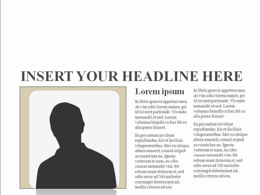 Newspaper Template for Ppt Elegant New Blog E Newspaper Template