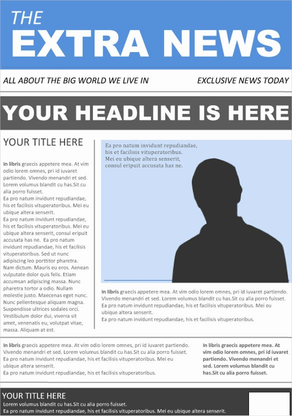 Newspaper Template for Ppt Fresh 9 Newspaper Front Page Template Free Word Ppt Eps