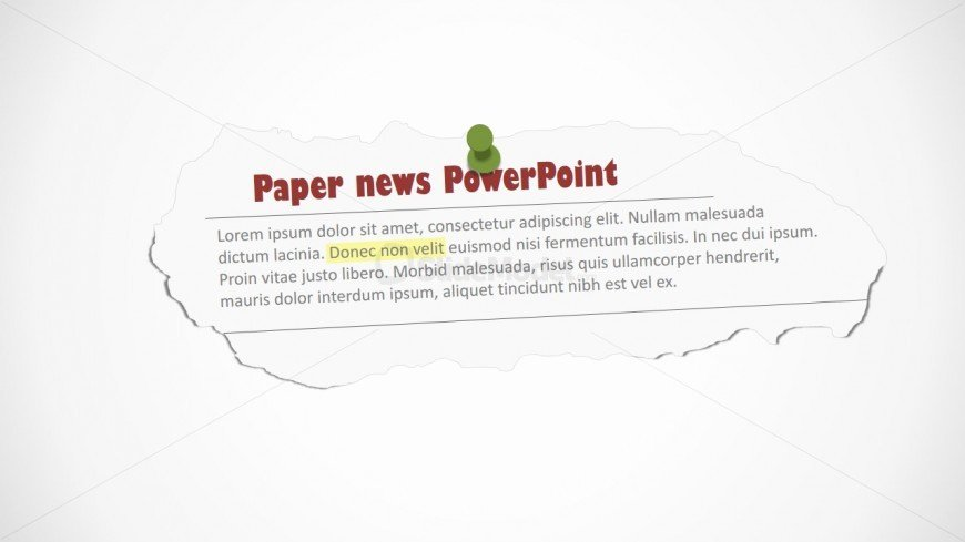 Newspaper Template for Ppt Inspirational Newspaper Editable Clipping Shape for Powerpoint Slidemodel