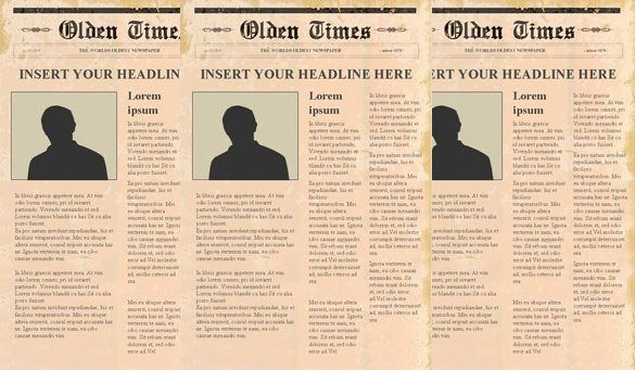 Newspaper Template for Ppt Inspirational Newspaper Headline Template 12 Free Word Ppt Psd Eps
