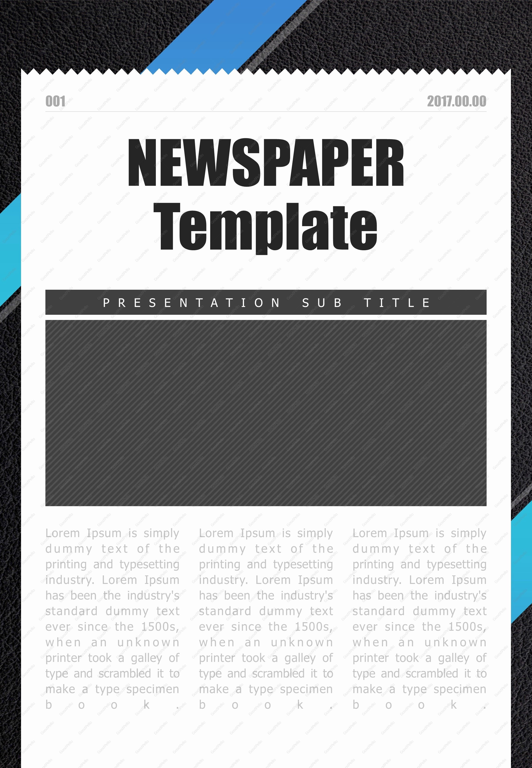 Newspaper Template for Ppt Inspirational Newspaper Powerpoint Template Design Templates