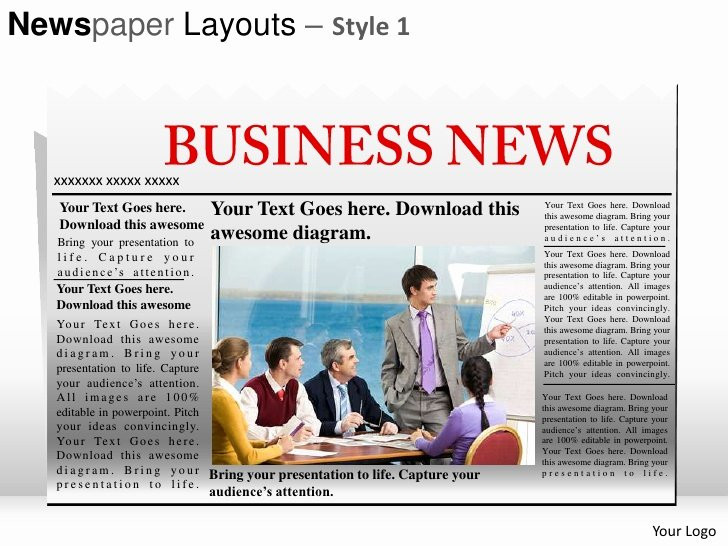Newspaper Template for Ppt New Newspaper Layouts Style 1 Powerpoint Presentation Templates