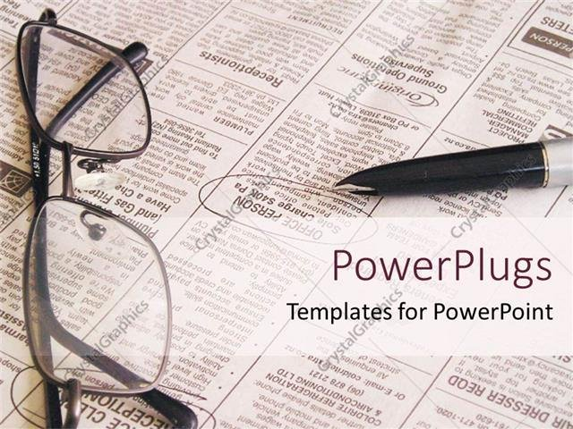 Newspaper Template for Ppt New Powerpoint Template Open Newspaper with Pen and