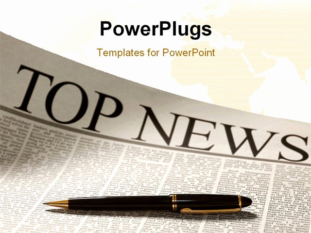 Newspaper Template for Ppt New Powerpoint Template top News Headline On A Newspaper Page