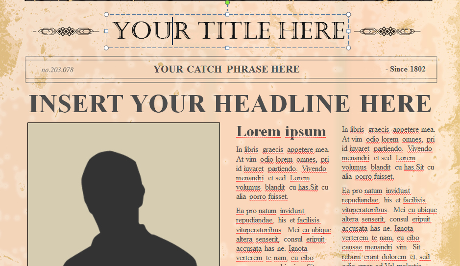 Newspaper Template for Ppt Unique 10 Best Of Old Newspaper Template Newspaper