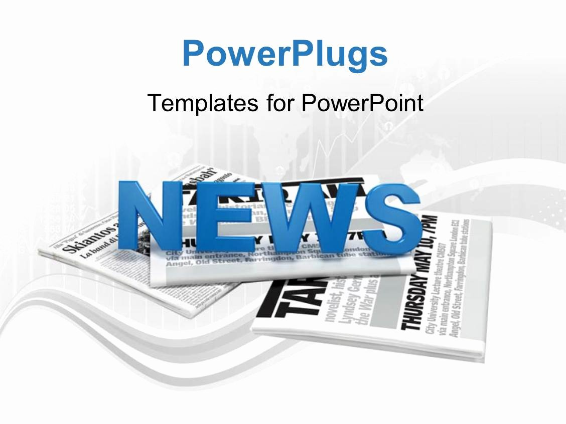 Newspaper Template for Ppt Unique Powerpoint Template Text News On A Bunch Of Newspaper