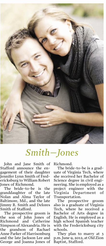 Newspaper Wedding Announcement Template Elegant How to Write A formal Engagement Announcement