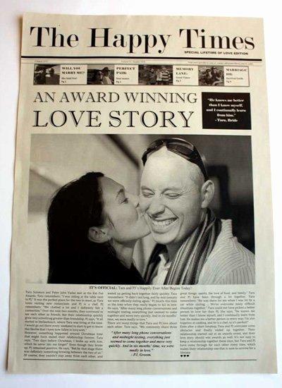 newsfavor wedding newspapers