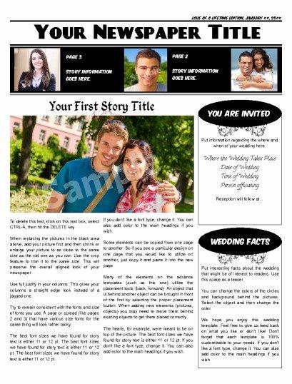 Newspaper Wedding Announcement Template Fresh Wedding Announcement Newspapers