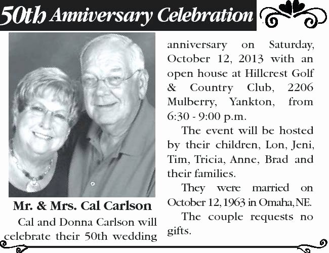 Newspaper Wedding Announcement Template Luxury 50th Wedding Anniversary Announcements