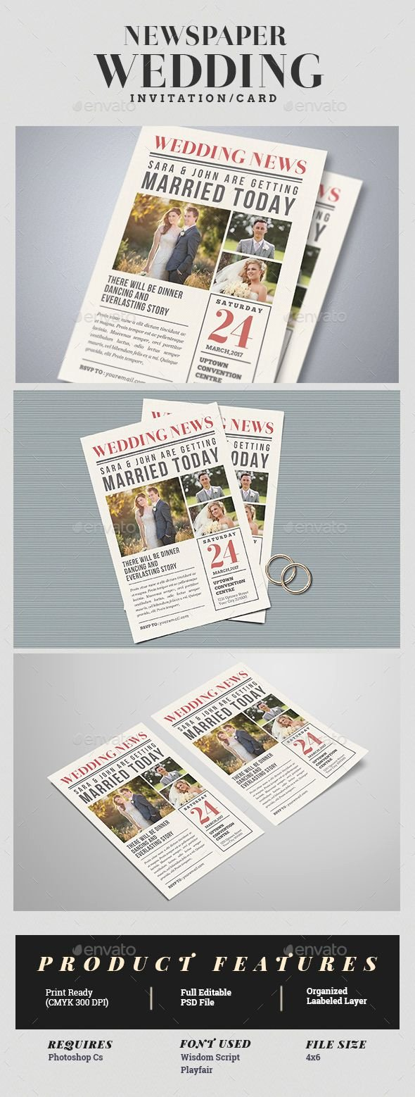 Newspaper Wedding Announcement Template Luxury Best 25 Invitation Templates Ideas On Pinterest