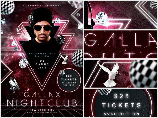 Night Club Flyer Template Awesome Gallax Nightclub Flyer Template Flyerheroes