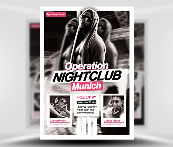 Night Club Flyer Template Best Of 31 Fabulous Night Club Flyer Templates & Psd Designs