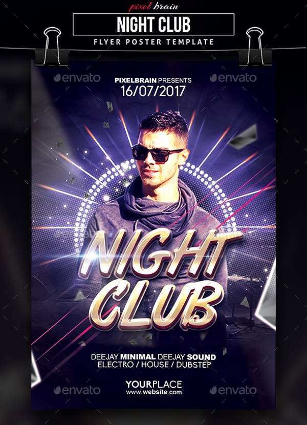 Night Club Flyer Template Best Of 9 Club Party Flyers Free Psd Eps Vector Ai format