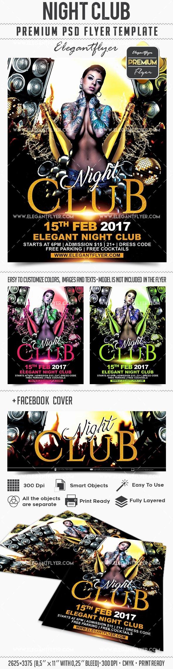 Night Club Flyer Template Fresh Night Club – Flyer Psd Template – by Elegantflyer