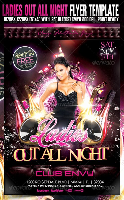 Night Club Flyer Template Inspirational 14 La S Night Flyer Psd La S Night Flyer