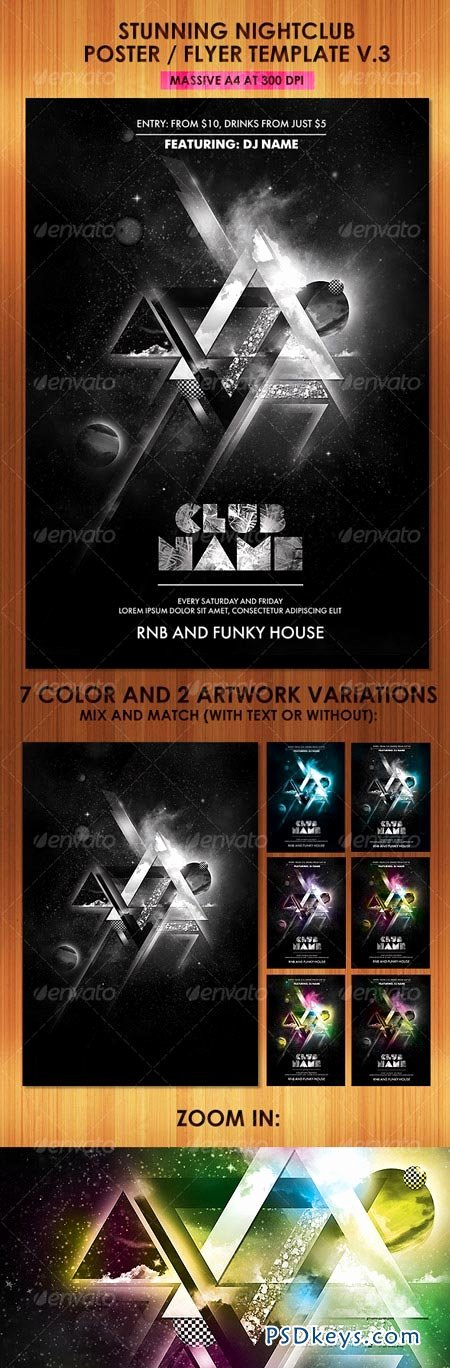 Night Club Flyer Template Inspirational Stunning Nightclub Poster Flyer Template V3 Free