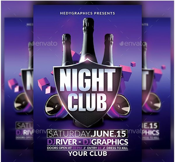 Night Club Flyer Template Luxury 27 Club Flyer Templates Pdf Psd Ai Vector Eps