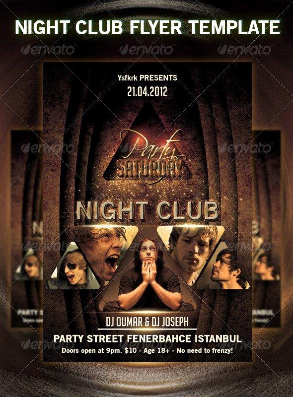 Night Club Flyer Template Luxury 31 Fabulous Night Club Flyer Templates & Psd Designs